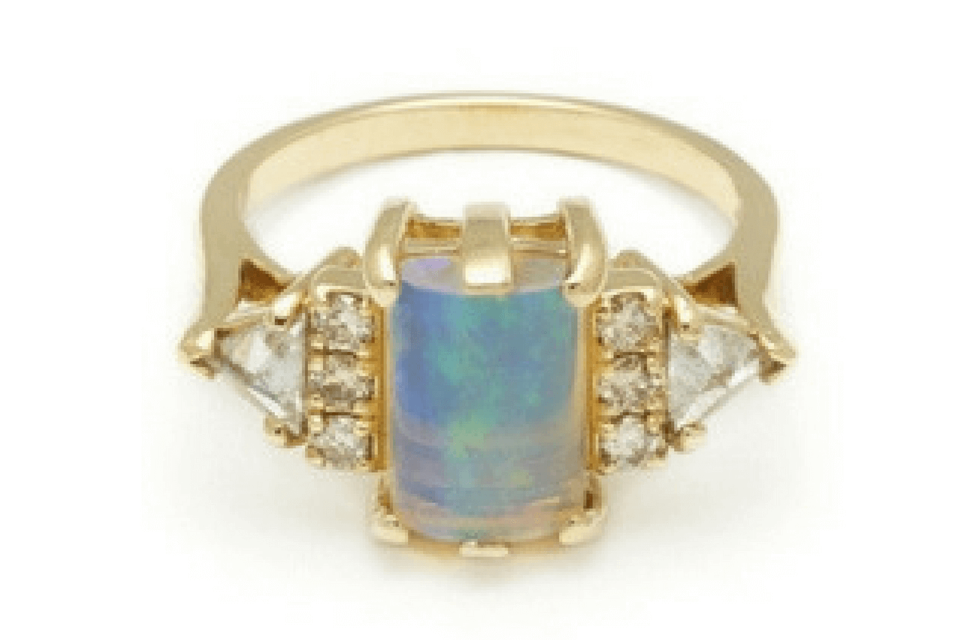 Opal Cabochon Bea Ring by Anna Sheffield.
