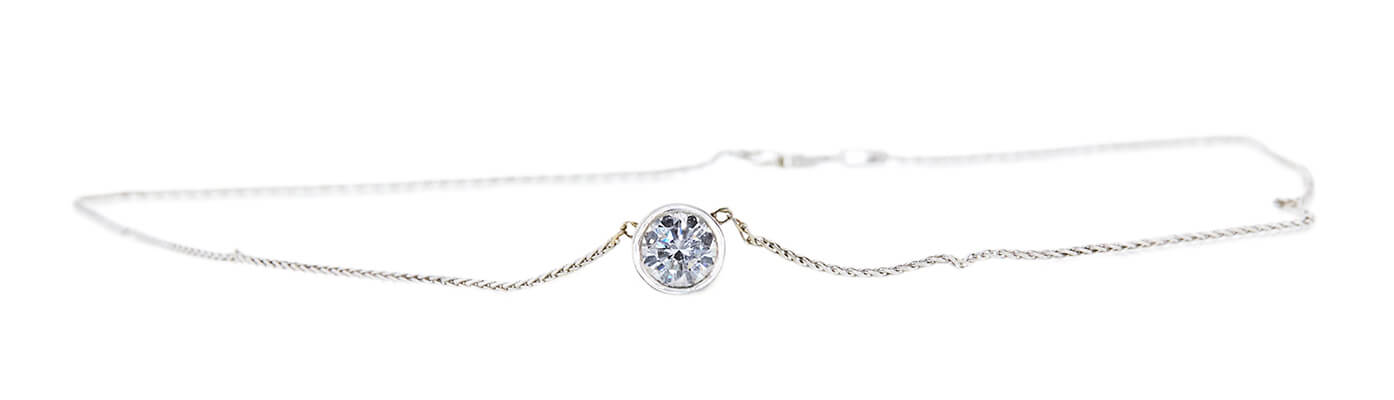 Jennifer's GIA 1.12 CT Round Cut Pendant Necklace