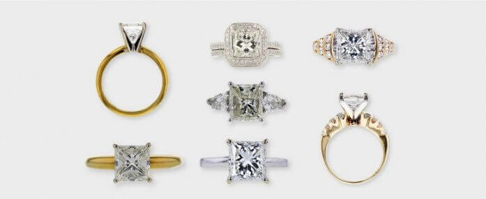 6 Outstanding Princess Cut Diamond Engagement Rings