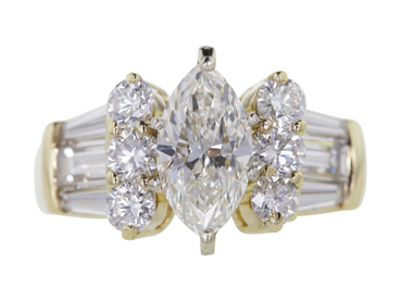 1.66 CT Marquise Cut Solitaire Ring